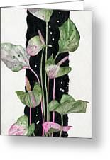 Flower Anthurium 02 Elena Yakubovich Greeting Card by Elena Yakubovich