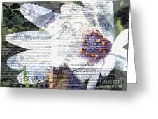 Flower Art Print 5 Greeting Card