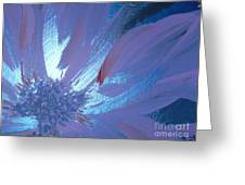 Flower Blue II Greeting Card by LCS Art