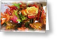 Flower Bouquet Greetings Greeting Card