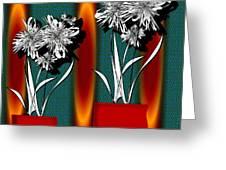 Flower Bowl 2 Greeting Card