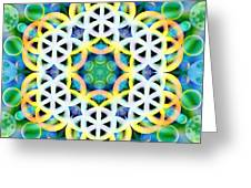 Flower Bubbles Greeting Card