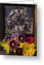 Flower Clock Greeting Card