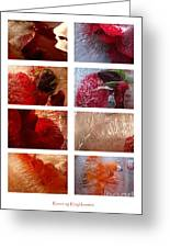 Flower Collage Vertical Greeting Card