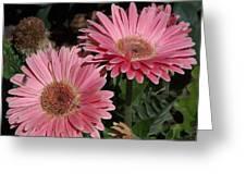 Flower Duvet Cover Greeting Card
