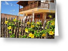 Flower Fence For A Beach Loft In Jeri Greeting Card