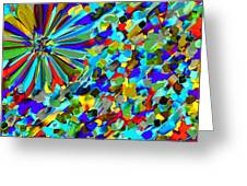 Flower Fight Abstract Greeting Card
