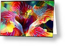 Flower Fire Power Greeting Card