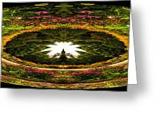 Flower Garden Polar View Greeting Card