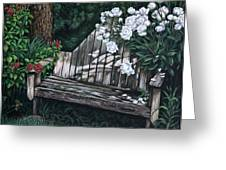 Flower Garden Seat Greeting Card