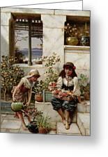 Flower Girls Greeting Card