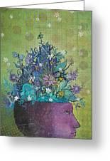 Flower-head1 Greeting Card