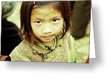 Flower Hmong Girl 02 Greeting Card