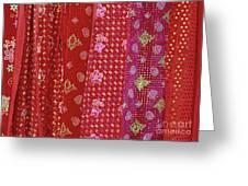 Flower Hmong Velvet Greeting Card