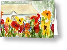 Flower House Greeting Card