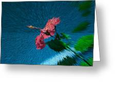 Flower In Space Greeting Card