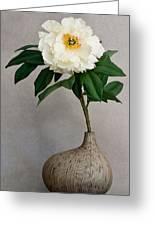 Flower In Vase Greeting Card