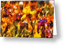 Flower - Iris - Orchestra Greeting Card by Mike Savad