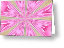 Flower Kaleidoscope Greeting Card