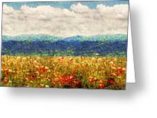 Flower - Landscape - Fragrant Valley Greeting Card by Mike Savad