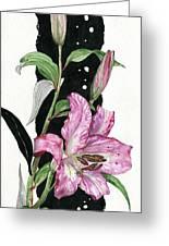 Flower Lily 02 Elena Yakubovich Greeting Card