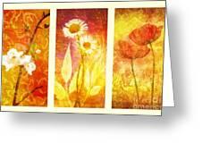 Flower Love Triptic Greeting Card