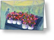 Flower Market Greeting Card