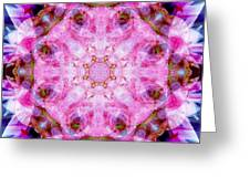 Flower Of Life Lily Mandala Greeting Card