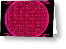Flower Of Life - Pink Greeting Card