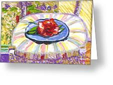 Flower On Chair Greeting Card