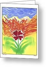 flower on Fire Greeting Card