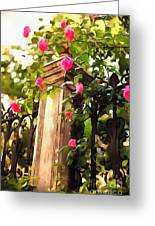 Flower Post Greeting Card