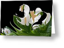 Flower Power Abstract Greeting Card