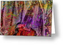 Flower Power Digital Guitar Art By Steven Langston Greeting Card