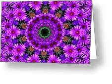 Flower Power Greeting Card by Kristie  Bonnewell