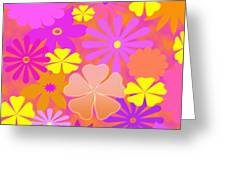 Flower Power Pastels Design Greeting Card