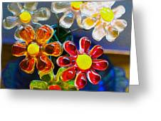 Flower Power Still Life Greeting Card