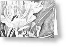 Flower Sketch Greeting Card