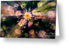 Flower Song On Fairy Wing Greeting Card