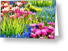 Flower Splash II Greeting Card