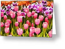 Flower Splash IIi Greeting Card