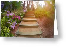 Flower Steps Greeting Card