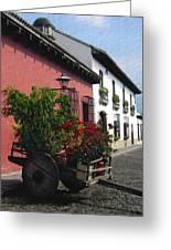 Flower Wagon Antigua Guatemala Greeting Card