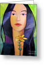 Flower Woman Greeting Card