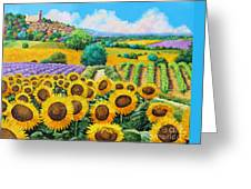Flowered Garden Greeting Card by Jean-Marc Janiaczyk