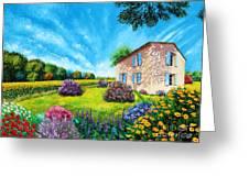 Flowered Garden Greeting Card