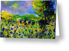 Flowered Village Greeting Card