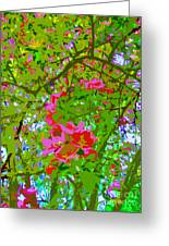 Flowering Blossoms Tree Paint Style Greeting Card