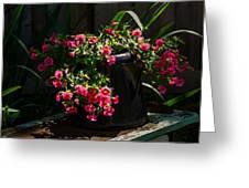 Flowering Coffee Pot Greeting Card