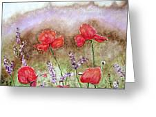 Flowering Field Greeting Card